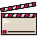 clapper, Clapperboard, entertainment, cinema, movie, technology, Edit Tools LightGray icon