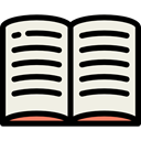 Library, Literature, open book, Books, education, study, reading, Book Linen icon