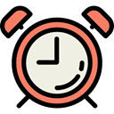 miscellaneous, Clock, Tools And Utensils, alarm clock, time, timer Black icon