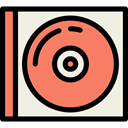 Dvd, Bluray, music, Cd, music player, Music And Multimedia, compact disc, Multimedia Salmon icon