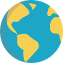 Maps And Location, Maps And Flags, Planet Earth, worldwide, global, Earth Globe, Geography LightSeaGreen icon