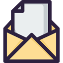 Communications, envelope, Message, interface, mail, Email, Note DarkSlateGray icon
