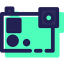 electronics, picture, digital, photography, photo camera Turquoise icon