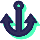 sail, tattoo, Tools And Utensils, navy, miscellaneous, Anchor, sailing, Anchors MidnightBlue icon