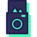 photo camera, photography, digital, picture, electronics MidnightBlue icon