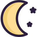 Moon, weather, starry, Astronomy, night, Stars Khaki icon