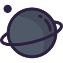 science, education, saturn, Astronomy, solar system, planet DarkSlateGray icon