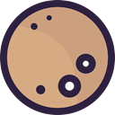 weather, Astronomy, Moon Phase, meteorology, nature, Moon, full moon Tan icon