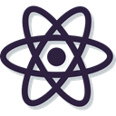 Atom, Atomic, physics, education, science, nuclear DarkSlateGray icon
