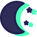 nature, weather, Stars, starry, Moon, Astronomy, night DarkSlateGray icon