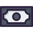 Business And Finance, Money, Business, Notes, Cash, Currency DarkSlateGray icon