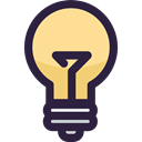 electronics, illumination, invention, electricity, Light bulb, Idea, technology DarkSlateGray icon