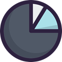 statistics, finances, Pie chart, Stats, Business And Finance, Business, graphical, marketing DarkSlateGray icon