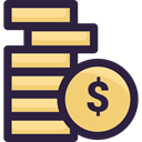 Business And Finance, Coins, Business, Currency, Money, stack, Cash DarkSlateGray icon