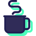 Coffee, mug, coffee cup, Chocolate, Tea Cup, hot drink, food, Food And Restaurant MidnightBlue icon