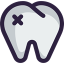 medical, Healthcare And Medical, Dentist, Health Care, Teeth, tooth Lavender icon