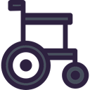 Disabled, medical, Healthcare And Medical, wheelchair, handicap, transport DarkSlateGray icon