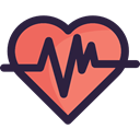 Heart, Electrocardiogram, Healthcare And Medical, Cardiogram, medical, heart rate, pulse DarkSlateGray icon