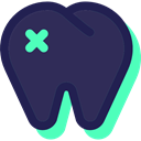 Dentist, Healthcare And Medical, tooth, medical, Health Care, Teeth DarkSlateGray icon