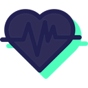 medical, pulse, Healthcare And Medical, heart rate, Cardiogram, Heart, Electrocardiogram DarkSlateGray icon