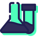 Flasks, laboratory, chemical, Healthcare And Medical, education, Chemistry Turquoise icon