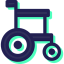 wheelchair, medical, Healthcare And Medical, Disabled, transport, handicap MidnightBlue icon