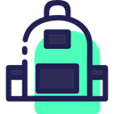 travel, luggage, baggage, Bags, Backpack MidnightBlue icon