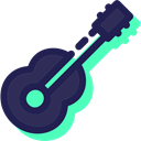 musical instrument, Orchestra, String Instrument, Acoustic Guitar, guitar, Music And Multimedia, music Black icon