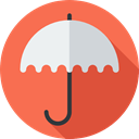 Shipping And Delivery, weather, Protection, Umbrella, Rain, safety Tomato icon