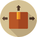Delivery, Box, cardboard, Shipping And Delivery, package, packaging Tan icon