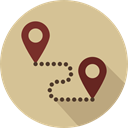 map pointer, Map Location, Map Point, Gps, start, Maps And Location, pin, Finish, Route, placeholder, signs, position Tan icon