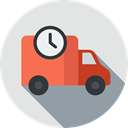 vehicle, Automobile, Delivery Truck, Delivery, Shipping And Delivery, Cargo Truck, transport, truck, transportation Gainsboro icon