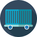 Shipping And Delivery, wagon, cargo, train, Delivery, transport DarkSlateGray icon