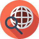 Seo And Web, Find, worldwide, search, internet, Maps And Location Tomato icon
