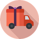 transportation, transport, Delivery Truck, Shipping, Shipping And Delivery, gift LightPink icon