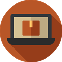 computing, technology, electronic, Laptop, Computer Sienna icon