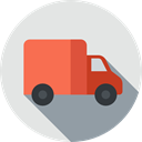 truck, transport, transportation, vehicle, Delivery Truck, Delivery, Cargo Truck, Automobile, Shipping And Delivery Gainsboro icon