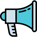 miscellaneous, Loud, advertising, megaphone, marketing, speaker Black icon