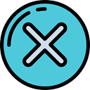 cancel, forbidden, interface, ui, signs, cross, Close, prohibition, Error MediumTurquoise icon