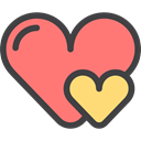 shapes, Peace, Love And Romance, Like, loving, Heart, interface, lover, Valentines Day Salmon icon