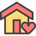 real estate, buildings, house, internet, Page, Home DarkSlateGray icon