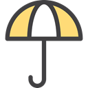Rain, rainy, Umbrella, Umbrellas, weather, Protection Black icon