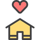 shelter, house, roof, real estate, buildings Black icon