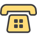 telephone, phone call, vintage, technology, phone, Communications Khaki icon