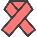 Healthcare And Medical, medical, Aids, Ribbon, Solidarity Salmon icon