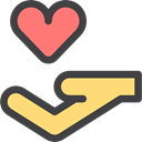 donation, help, Charity, Solidarity, Hands And Gestures DarkSlateGray icon