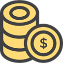 Coins, stack, Money, Currency, Business, Cash, Business And Finance Khaki icon