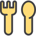 spoon, Tools And Utensils, Restaurant, Cutlery, Food And Restaurant, Fork Khaki icon