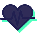 Healthcare And Medical, Cardiogram, heart rate, Electrocardiogram, Heart, medical, pulse DarkSlateGray icon
