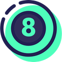 Eight Ball, pool, sports, Billiard, Sports And Competition Turquoise icon
